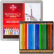 Набор акварельных карандашей Koh-i-noor MONDELUZ LANDSCAPE 24 цвета в метал. (3724024013)