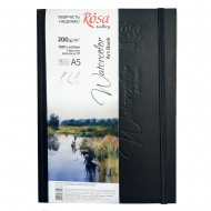 Блокнот для акварели ROSA Gallery A5 черный 200г/м2  32л Artistico CP Fabriano
