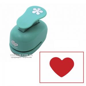Фигурный дырокол ROSA Сердце для скрапбукинга 1,6 см