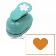Фигурный дырокол ROSA Сердце для скрапбукинга 2,5 см