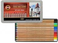 Набор пастельных карандашей GIOCONDA 8827 в мет.уп., 12 цветов