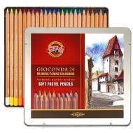 Карандаши пастельные Koh-i-Noor GIOCONDA 24 цвета в метал. упаковке