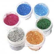 Сухие цветные блестки 0,2-0,4 мм в ассортименте, 7г