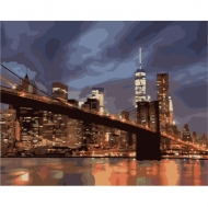 """Картина по номерам Идейка 40х50см  """"Ночной Нью Йорк"""""""