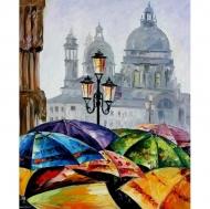 "Картина по номерам Идейка 40х50см  ""Краски дождя"""
