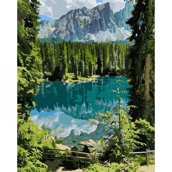 """Картина по номерам Идейка 40х50см  """"Загадочное озеро"""""""