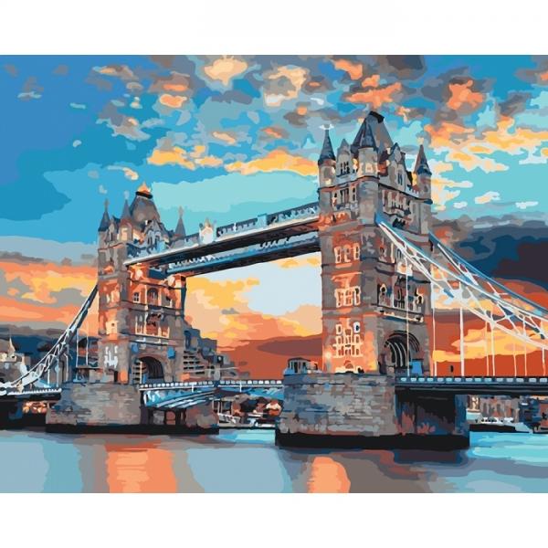 """Картина по номерам Идейка 40х50см """"Лондонський мост"""""""