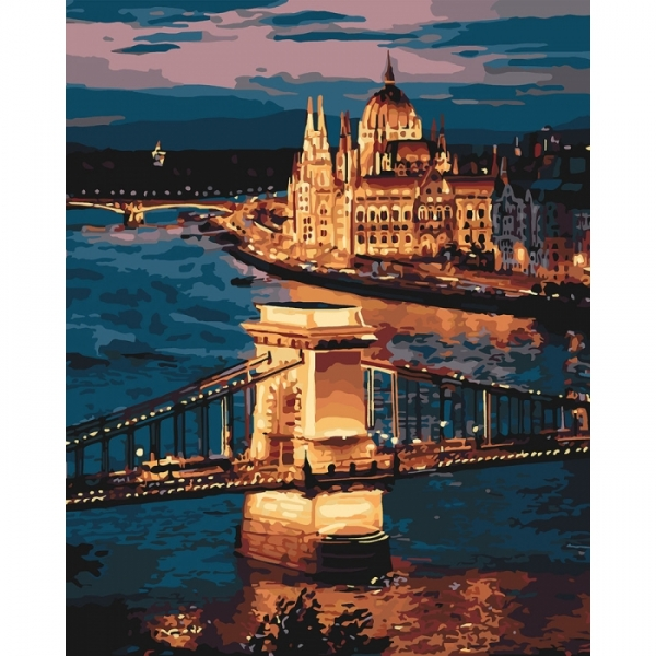 "Картина по номерам Идейка 40х50см ""Чарующий Будапешт"""