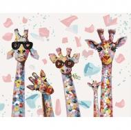 Картина по номерам Идейка 40х50см Веселые жирафы (КНО4115)
