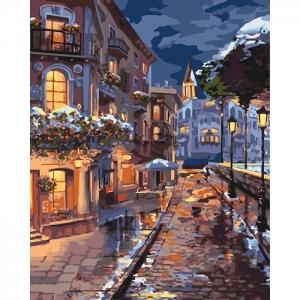 Картина по номерам Идейка 40х50см Зимний городок (КНО3542)