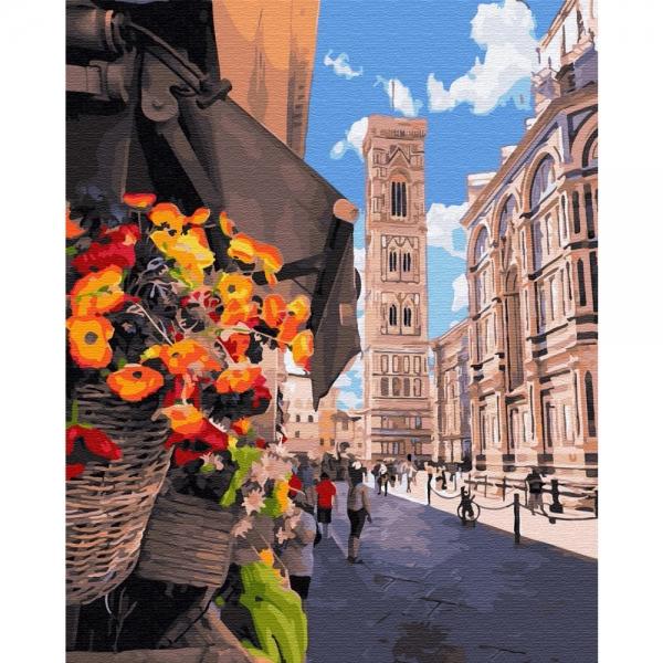 Картина по номерам BrushMe 40*50см Цветочный киоск Флоренции (GX34206)