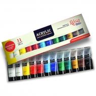 Набор акриловых красок ROSA Studio, 11 цветов 20 мл