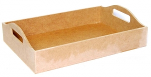 Поднос МДФ, с ручками, 37х26,5х6,5 см