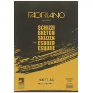 Склейка для эскизов Schizzi Sketch A3 (29,7x42 см), 90г/м2, 100л., Fabriano