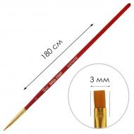 Кисти нейлоновые (синтетические) плоские ROSA START разных размеров