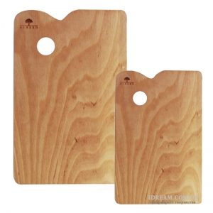 Палитра деревянная, прямоугольная, промасленная
