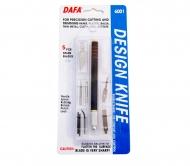 Набор для моделирования 6001 нож макетный, 5 сменных лезвий + 7 насадок, DAFA