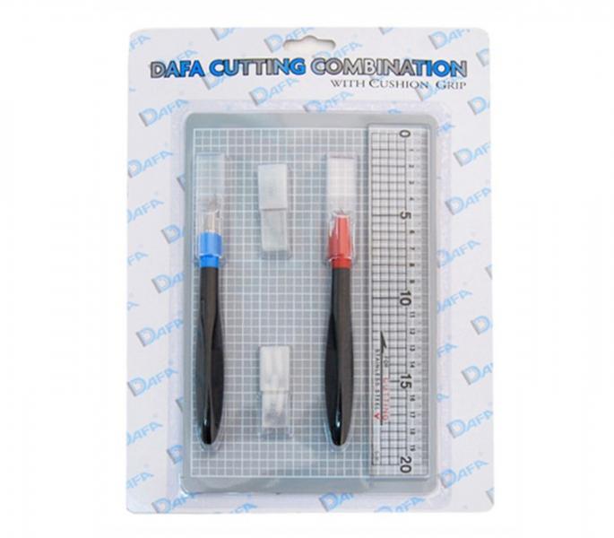 Набор для моделирования 2015: Самовосстанавливающийся коврик + 2 макетных ножа + сменные лезвия DAFA