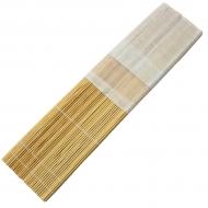 Пенал для кистей, бамбуковый, натуральный цвет+ткань в ассортименте