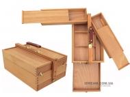 Пенал деревянный для худ. материалов, большой, 37*24*15 см