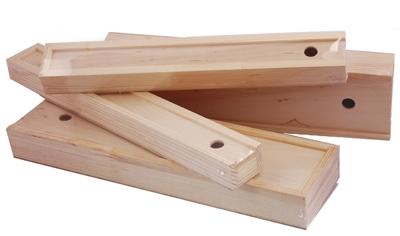 Пенал для кистей и кисточек деревянный