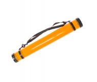Тубус для бумаги пластиковый (11319), длинна 65см, диаметр 8,3cм, прозрачный (оранжевый)