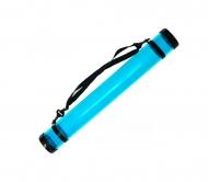 Тубус для бумаги пластиковый (11319), длинна 65см, диаметр 8,3cм, прозрачный (синий)