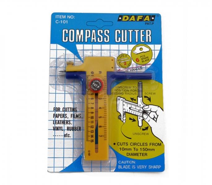 Нож макетный для круговых прорезов C-101, d: 10 - 150 мм, DAFA