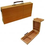 Пенал-этюдник для акварели деревянный, 33х16х5