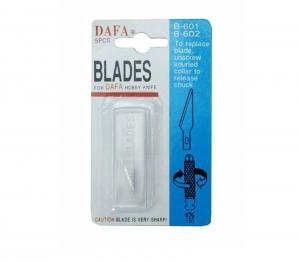 Набор лезвий для макетного ножа 5 шт, В-601 (В-56), 40x0.8 мм, DAFA