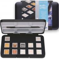 Набор акварельных красок Pocket box SPECIALTY 12 кювет + пензлик в пластике