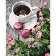 Картина по номерам Идейка 40х50см Романтический кофе (КНО5559)