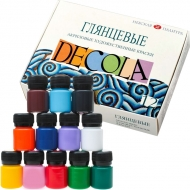 Набор акриловых красок DECOLA глянец 12 цветов 20 мл баночки в картоне