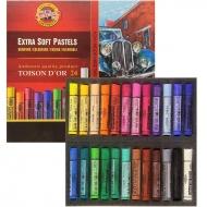 Мел-пастель экстра-мягкая TOISON D'OR 24 цвета