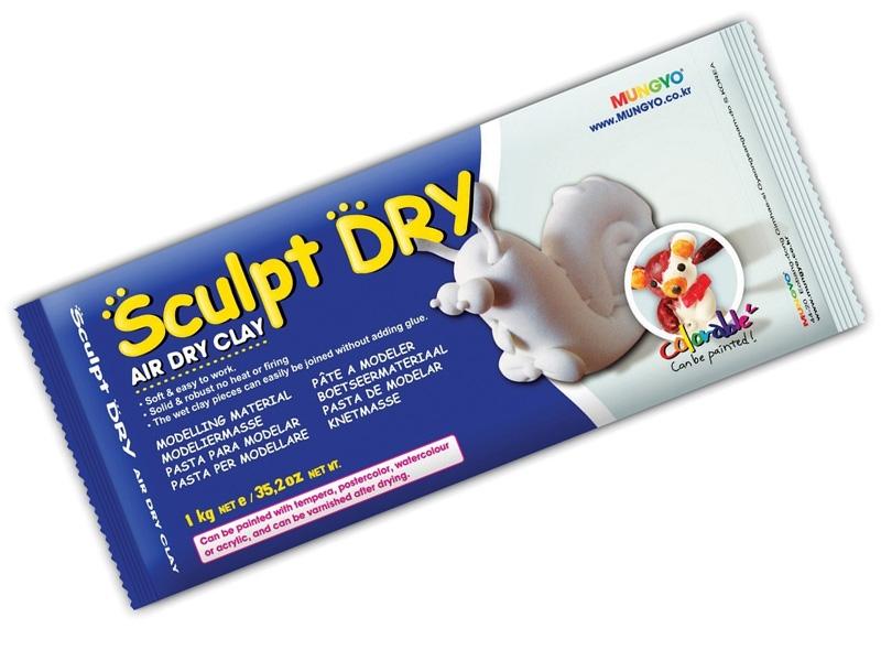 Масса белая для моделирования самозастывающая MUNGYO Sculpt Dry 500 г
