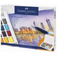 Набор  акварельных красок FaberCastell 36цв + кисть-резервуар (30758)
