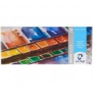 Набор акварельных красок Van Gogh 36 цветов кюветы в металле + кисть (20838636)