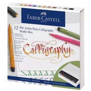 Набор ручек Faber-Castel PITT 12 шт CALLIGRAPHY STUDIO BOX (31357)