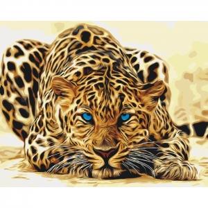 """Картина по номерам Идейка 40х50см """"Дикая кошка"""""""