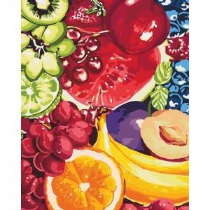 """Картина по номерам Идейка 40х50см """"Сладкие фрукты"""""""