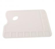 Палитра для красок пластиковая прямоугольная 23,5*34