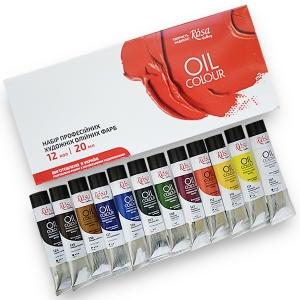Набор масляных красок  ROSA Gallery 12 цветов 20 мл