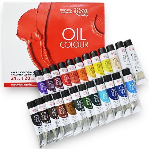 Набор масляных красок 24 цвета 20мл ROSA Gallery