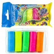 Пластилин Koh-i-Noor 5 цветов флуоресцентный 100 г