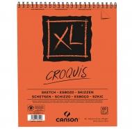 Canson альбом для нарисів, на спіралі XL Sketch Pad 90 гр, 14,8x21 см, A5 (60)