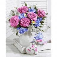 Картина по номерам BrushMe 40*50см Букет с розовыми розами (GX36532)
