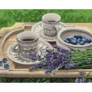Картина по номерам Идейка 40х50см Лавандовый завтрак (КНО5600)
