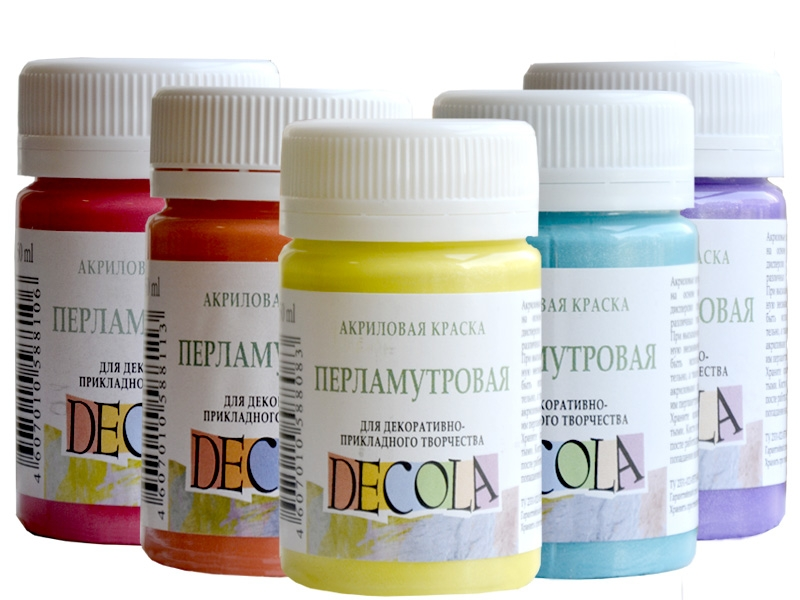 Краски акриловые перламутровые Decola, 50 мл