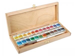 Набор акварели Белые Ночи в деревянном пенале, 24 цвета