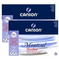 Склейка для акварели Canson Montval Torchon 12л 270 г/м2